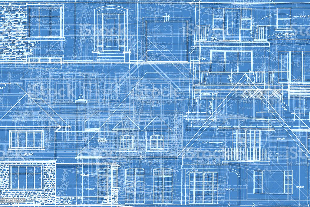 BluePrints - Chaos of Lines V stock photo