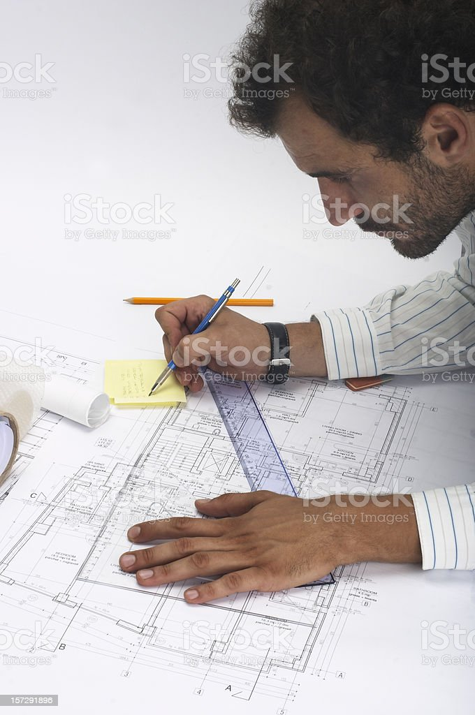 blueprints royalty-free stock photo
