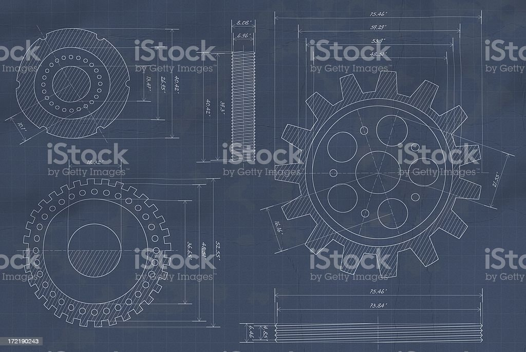 Blueprints (XL) stock photo