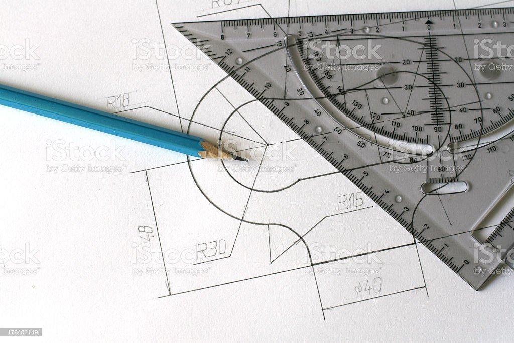 Blueprints stock photo