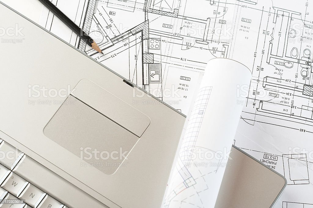 Blueprints series royalty-free stock photo
