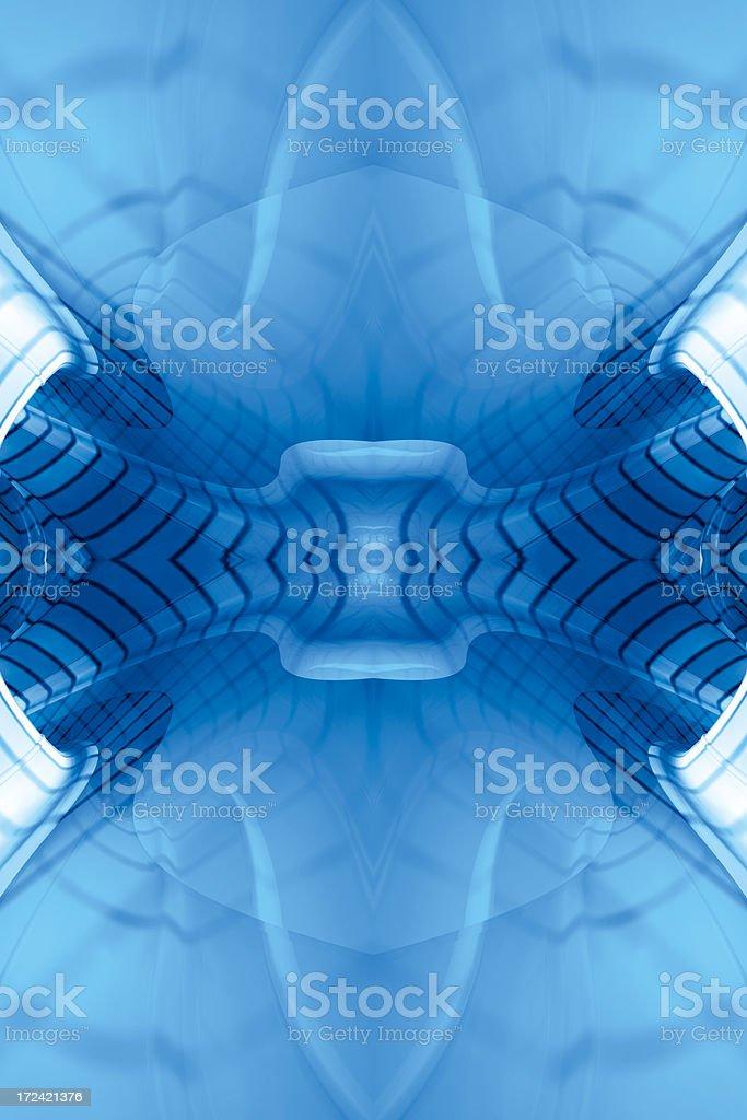 BlueReflectFractalFour royalty-free stock photo