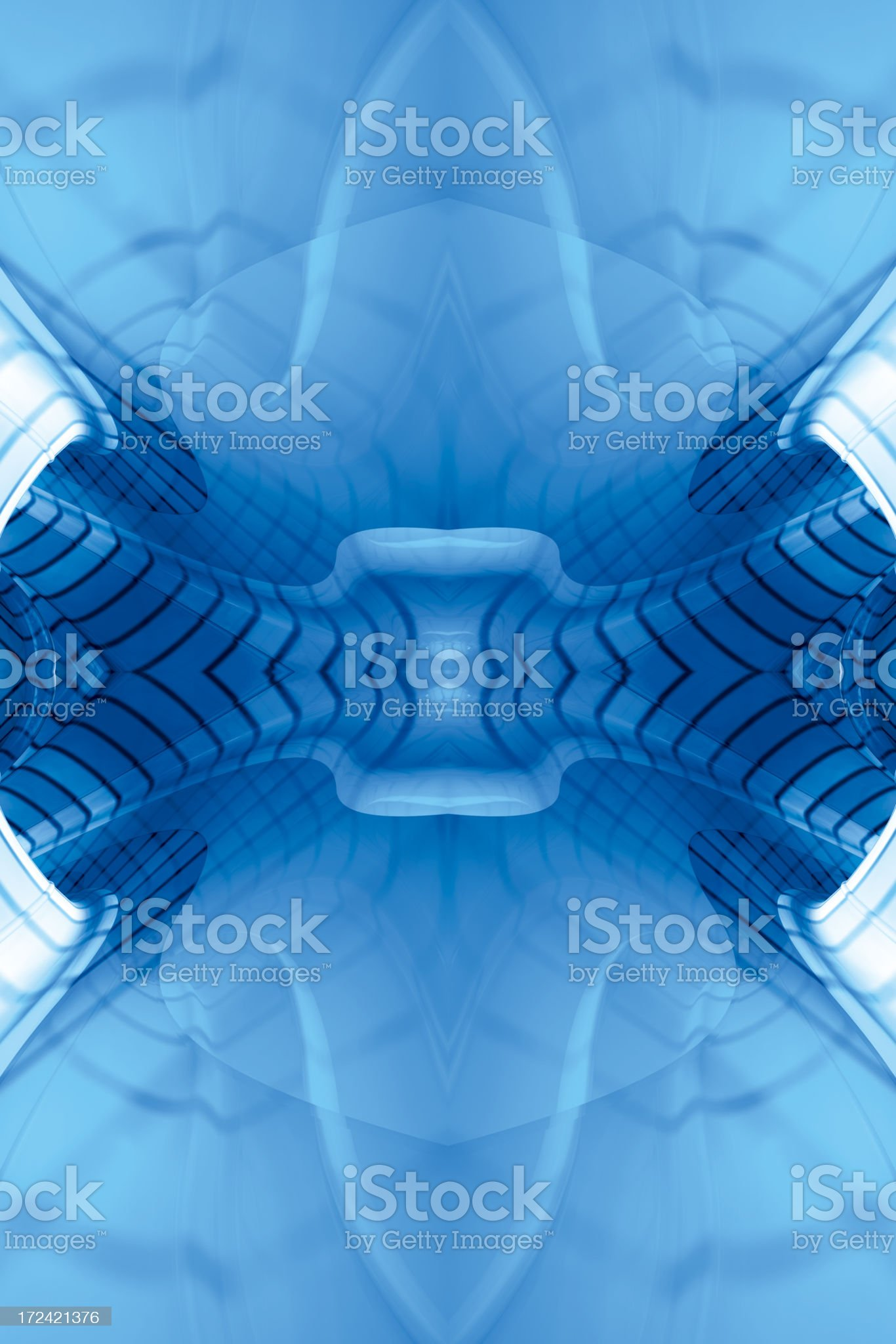 BlueReflectFractalFour royalty-free stock photo