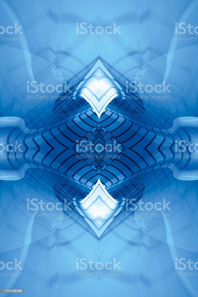 BlueReflectFractalTwo royalty-free stock photo