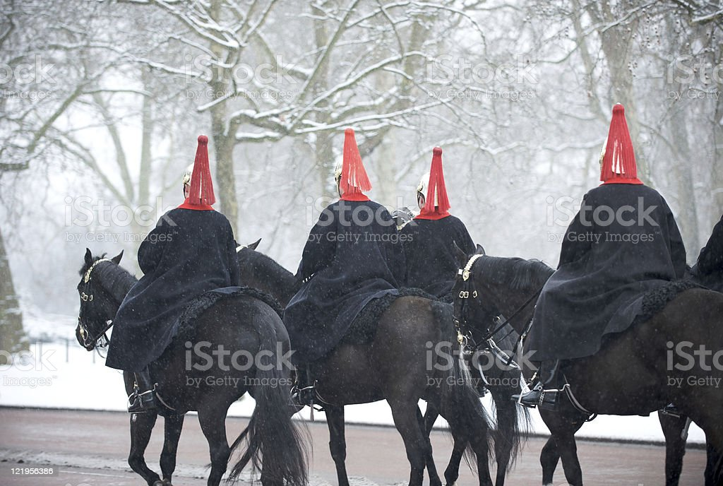 Blues and Royals riding on the Mall stock photo