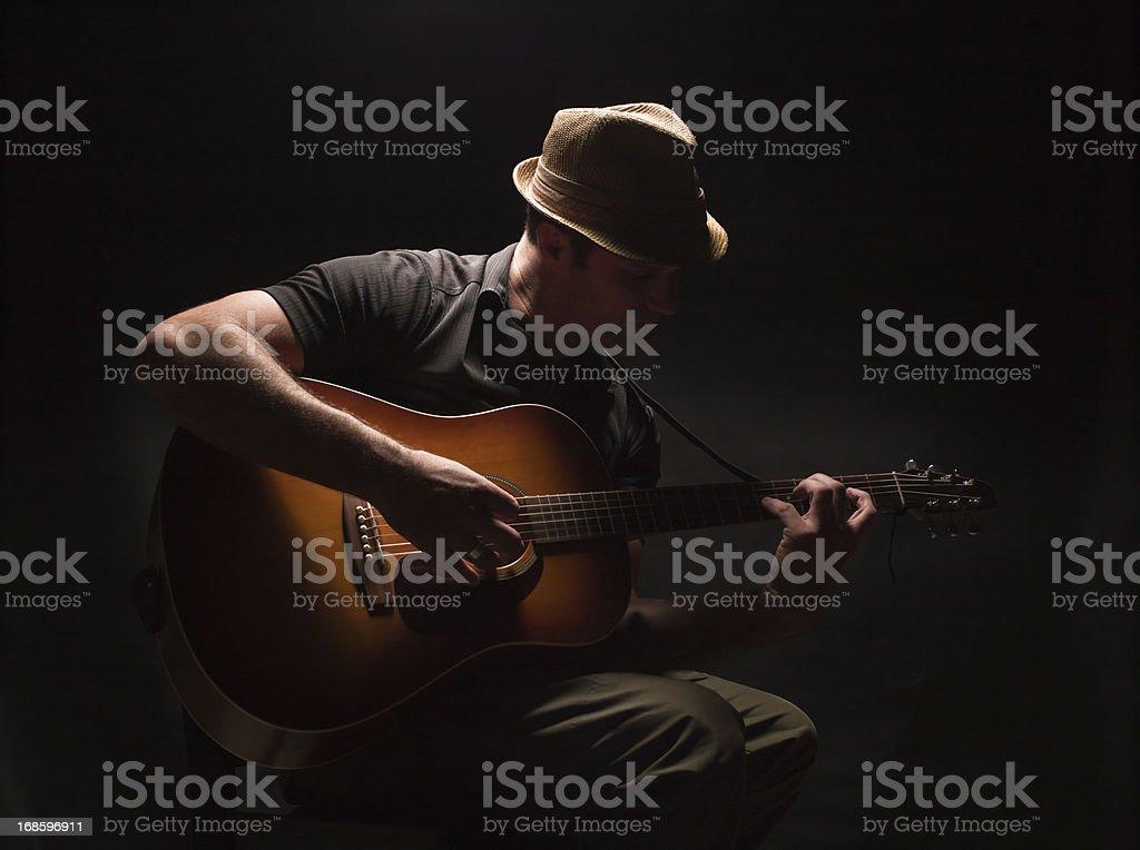 Blues Guitarist royalty-free stock photo