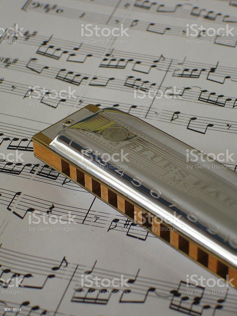 Blues Harp stock photo