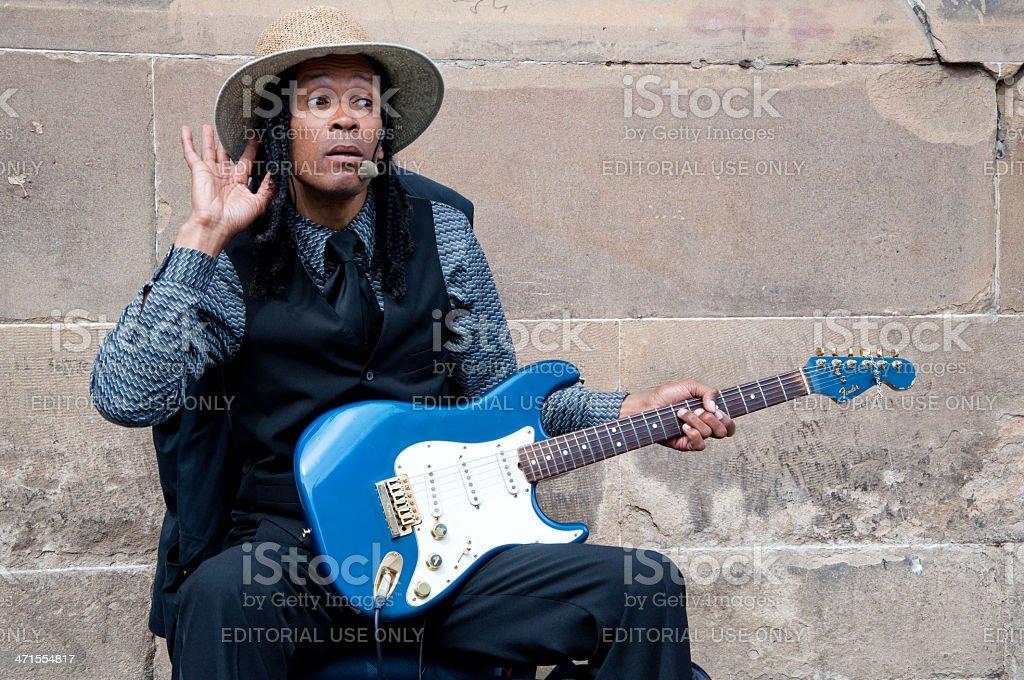 Blues man stock photo