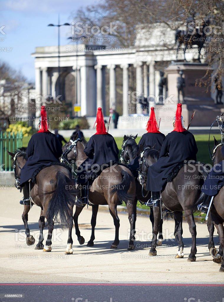 Blues & Royals Household Cavalry London stock photo