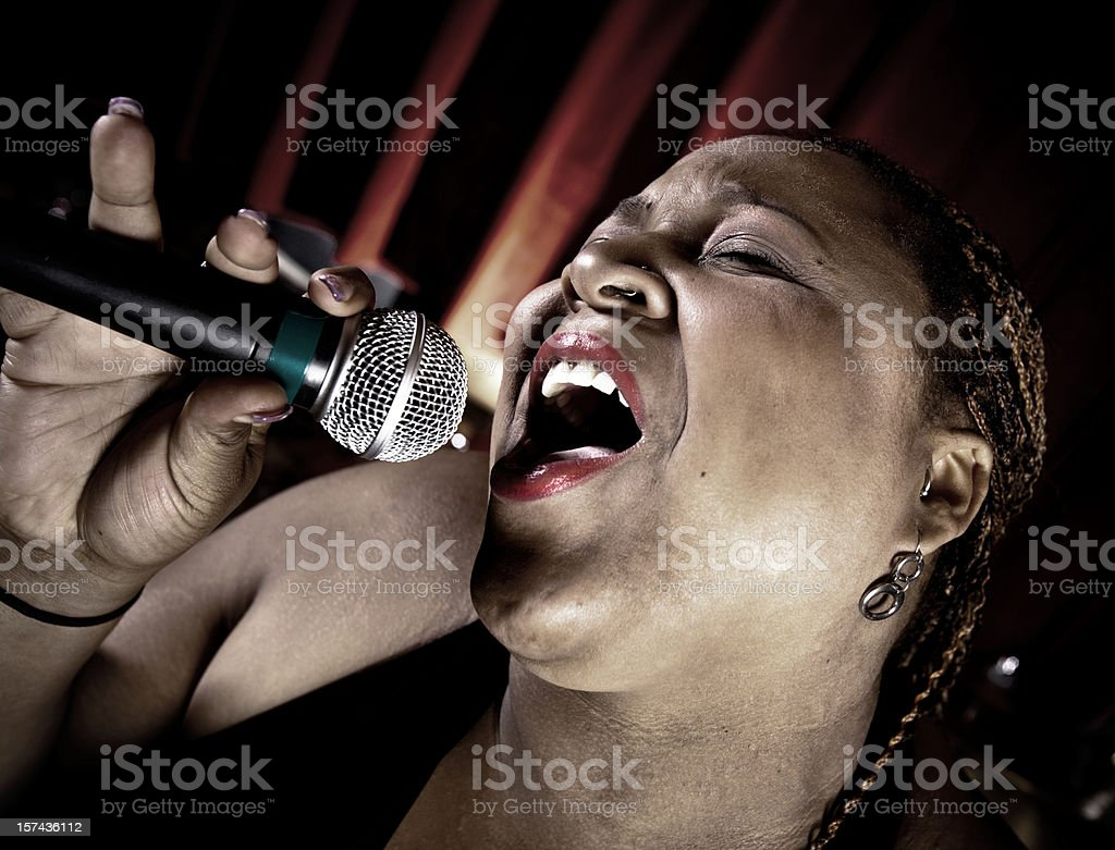 Blues Singer stock photo