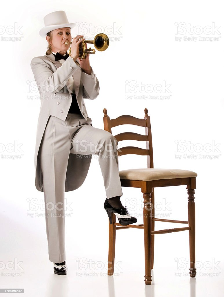 Blues through the horn royalty-free stock photo