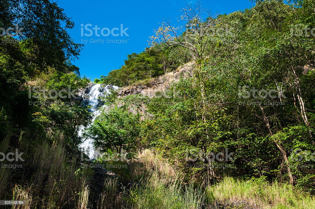 Bluesky in waterfall royalty-free stock photo