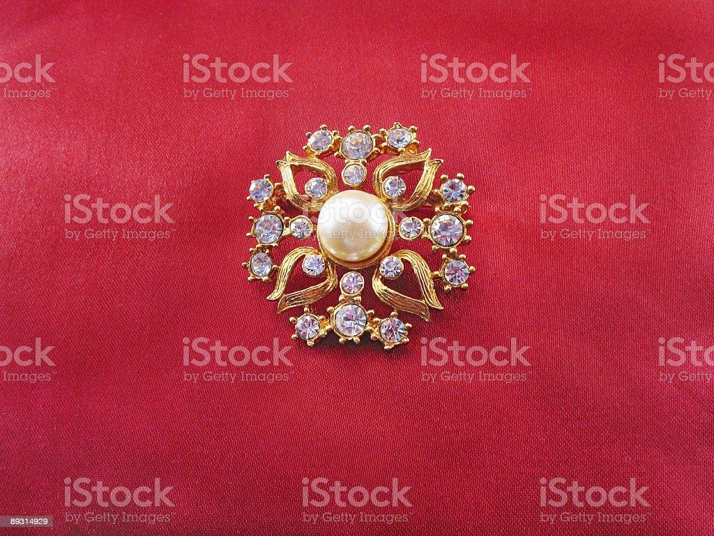 Blue-stone brooch royalty-free stock photo