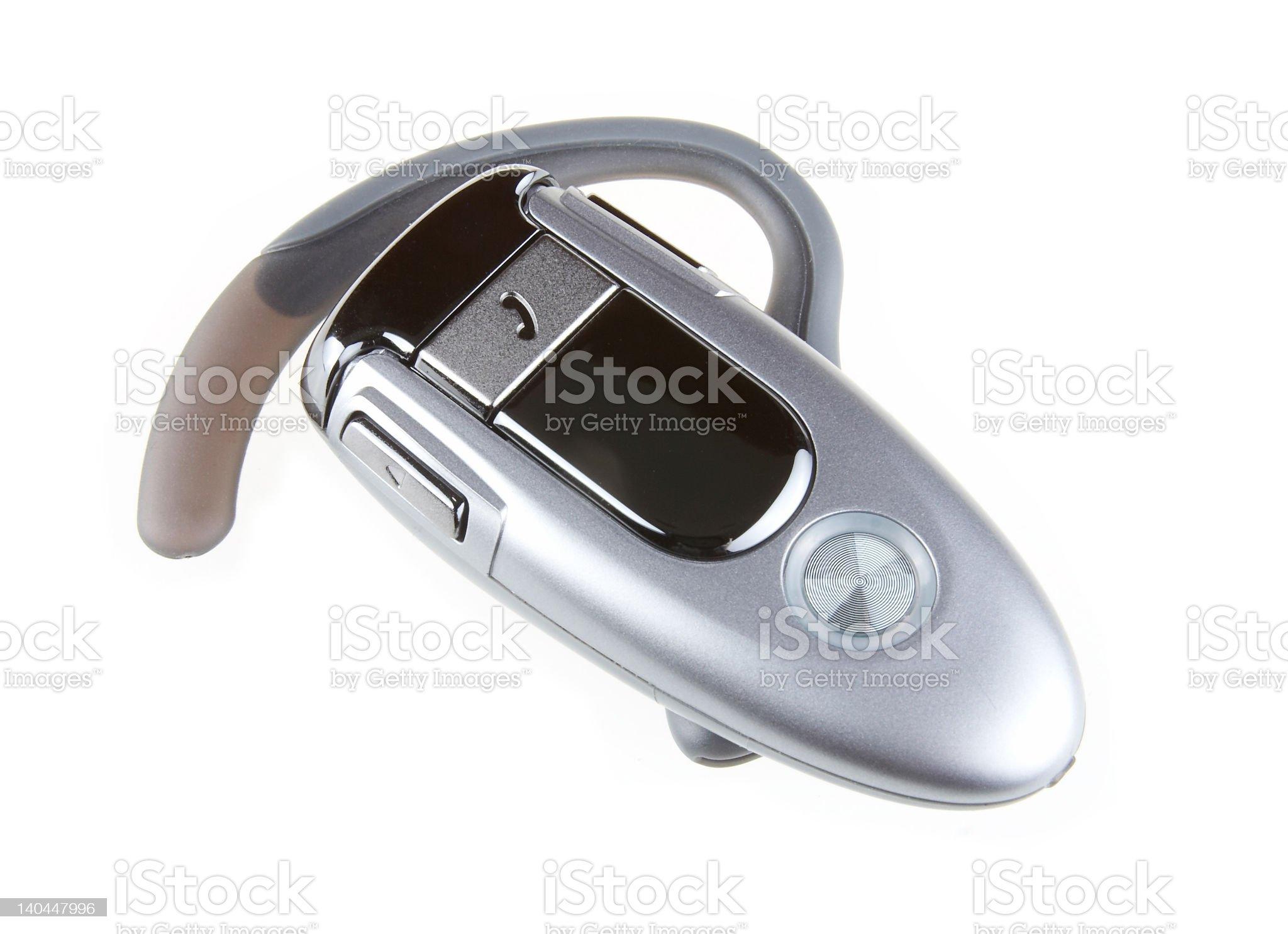 Bluetooth headset royalty-free stock photo