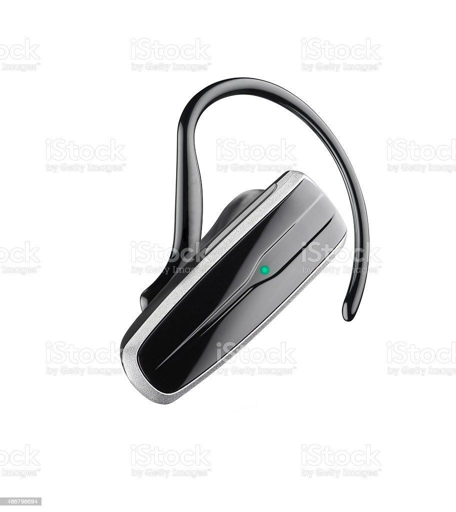 Bluetooth headset stock photo