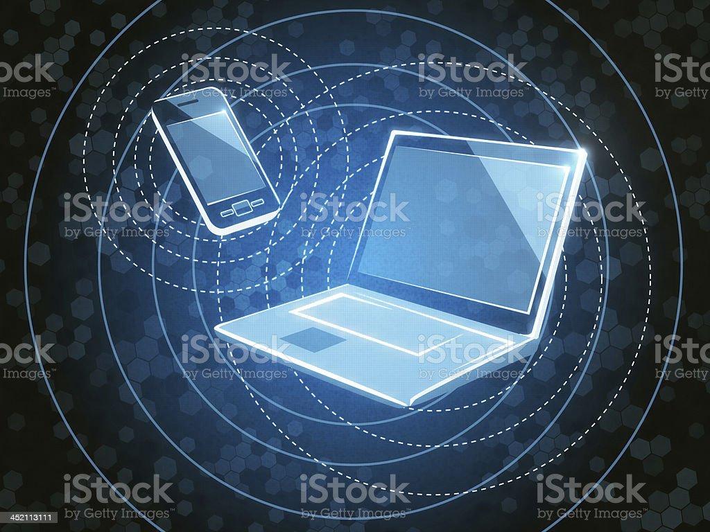 Bluetooth Technology royalty-free stock photo