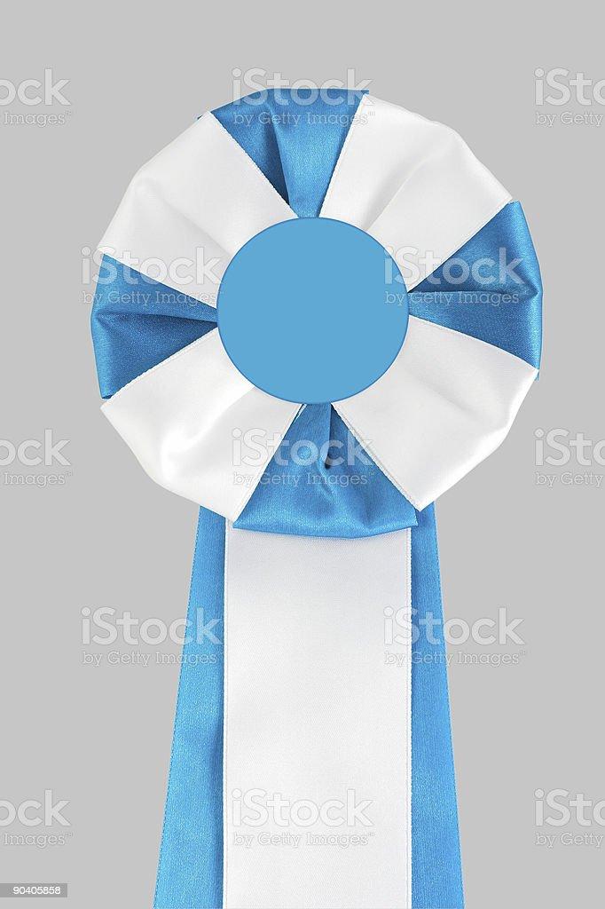 Blue-white award ribbon royalty-free stock photo