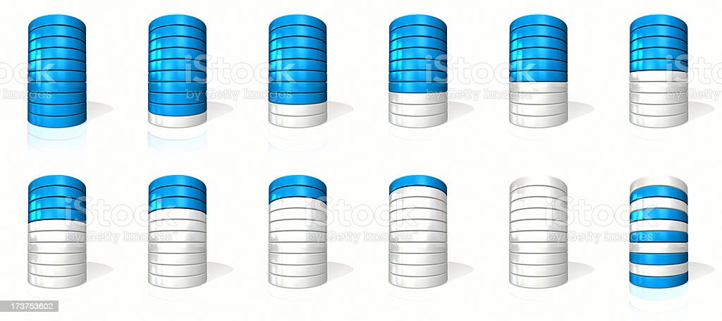 blue/white cylinder pie royalty-free stock photo
