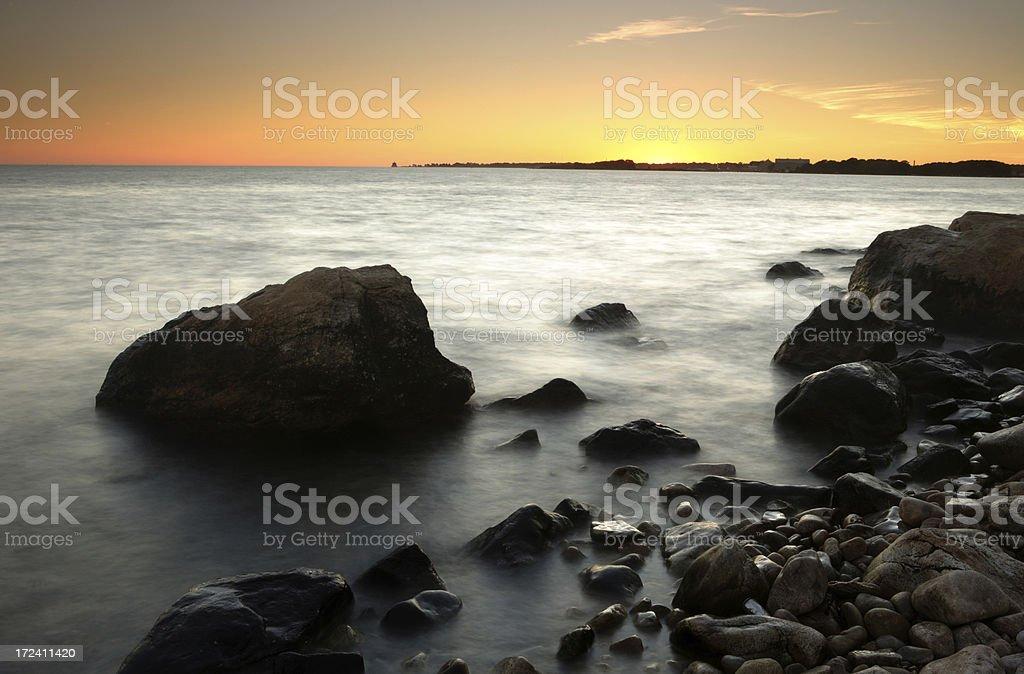 Bluff Point Sunset stock photo
