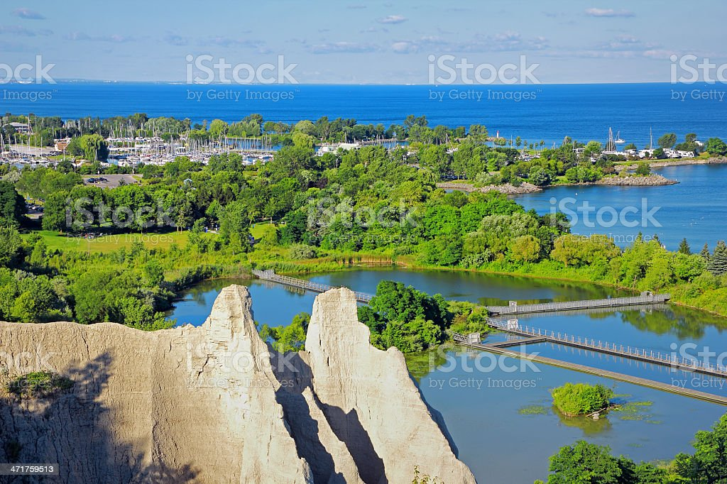 Bluffs in Summer stock photo