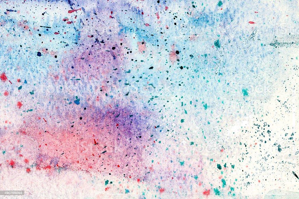Bluish acrylic paint background stock photo