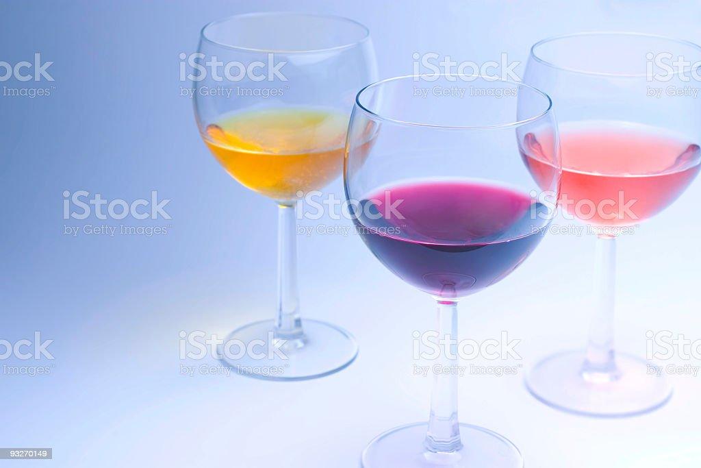 Bluish Wine royalty-free stock photo