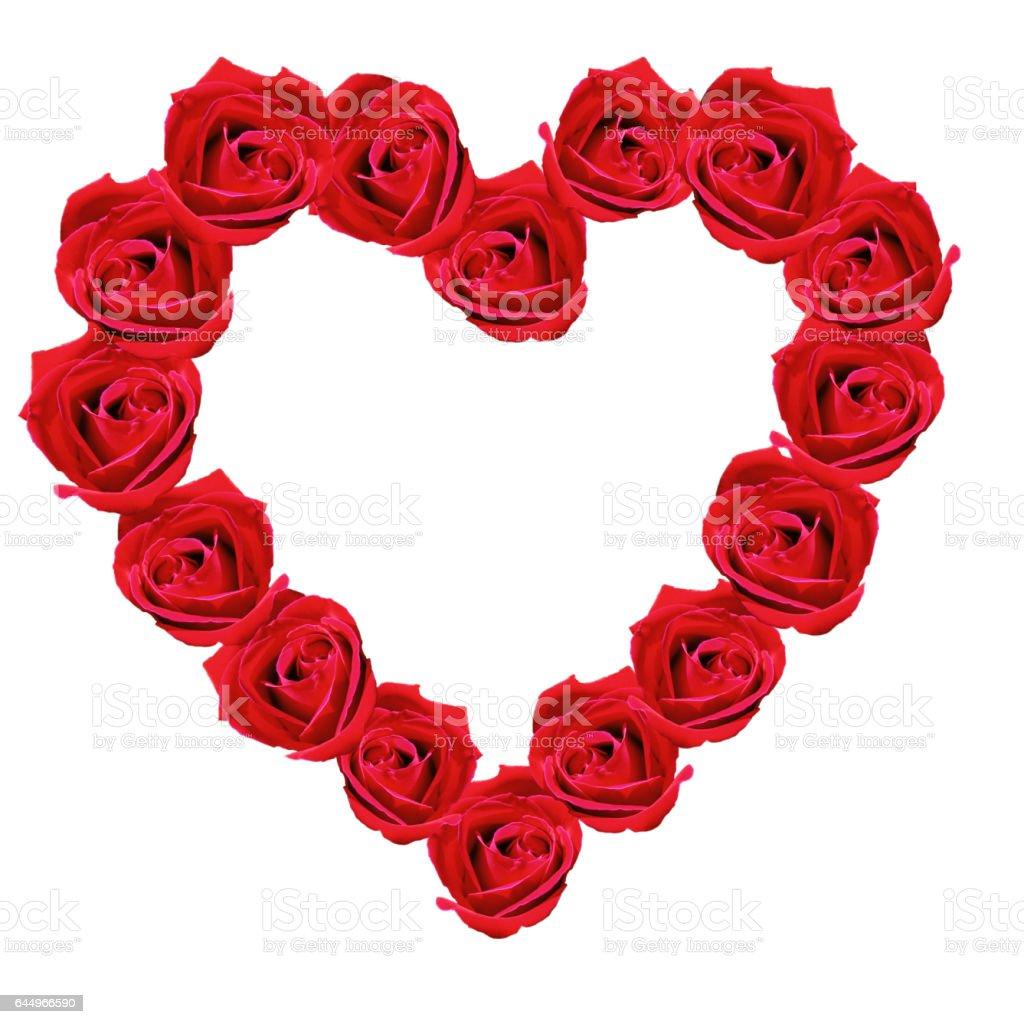 Blumenherz, Rote, Rose, stock photo