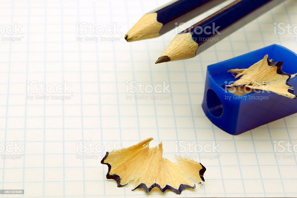 blunt and sharp pencil royalty-free stock photo