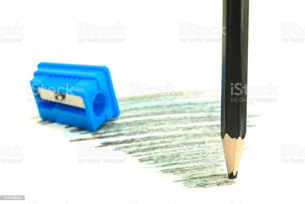 blunt black pencil royalty-free stock photo