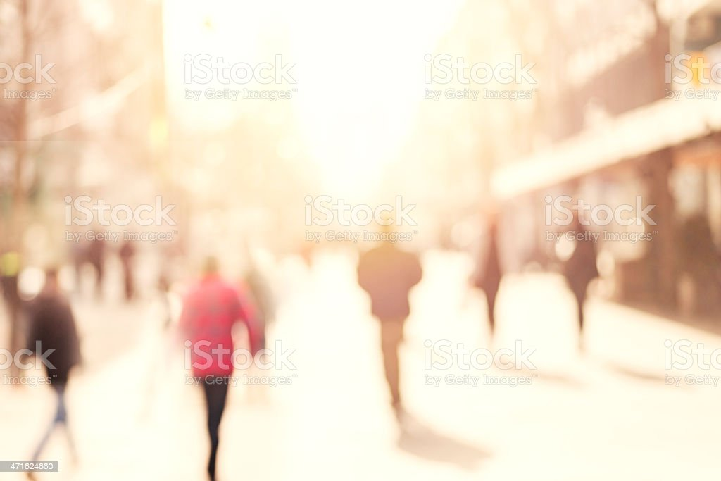 blur abstract people background, unrecognizable silhouettes of people...