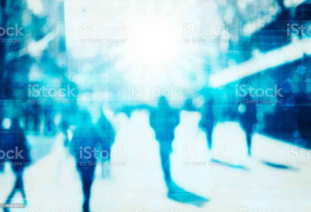 blur abstract people technology background stock photo