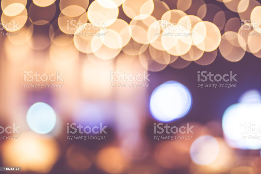 Blur background : Abstract circle bokeh lighting stock photo