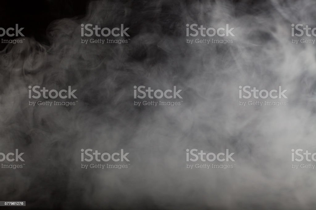 Blur Background of abstract grey color smoke on dark background stock photo
