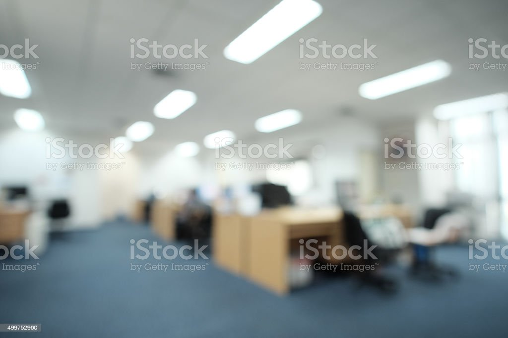 Blurred background image of an office stock photo