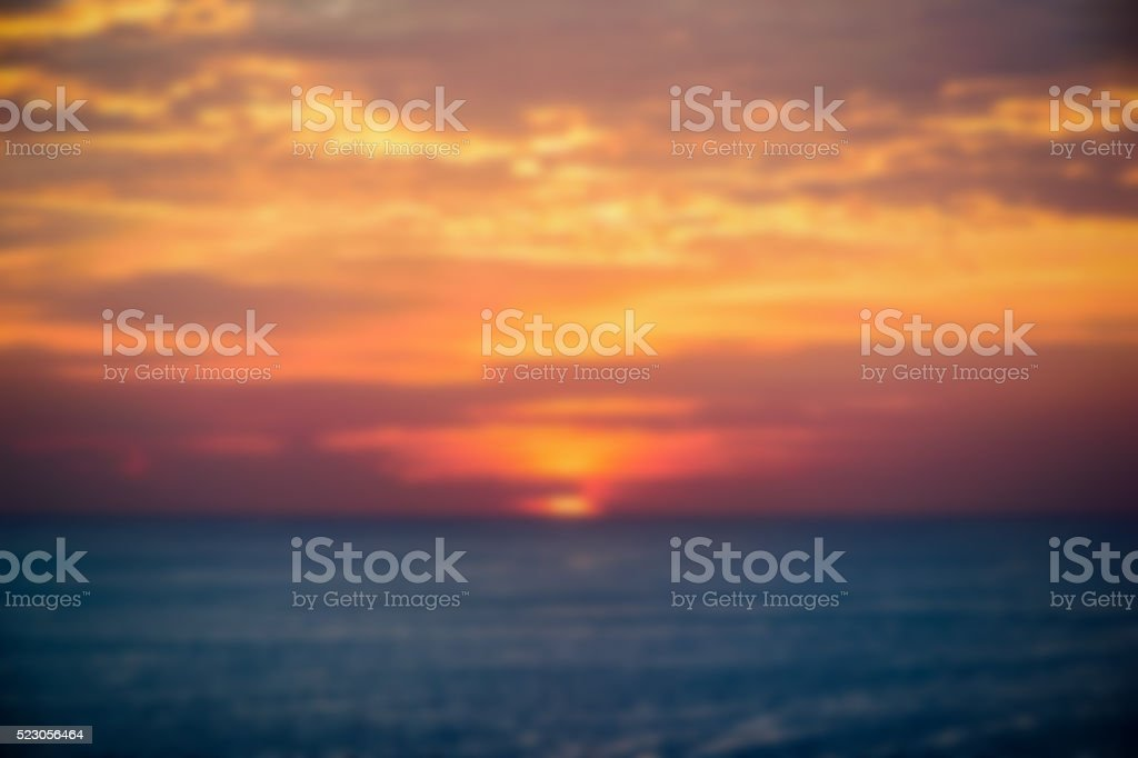 Blur background of sunset stock photo
