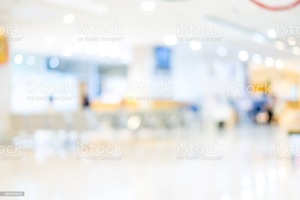 Blur background : Patient waiting for see doctor at hospital stock photo
