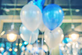 Blur balloons in the party
