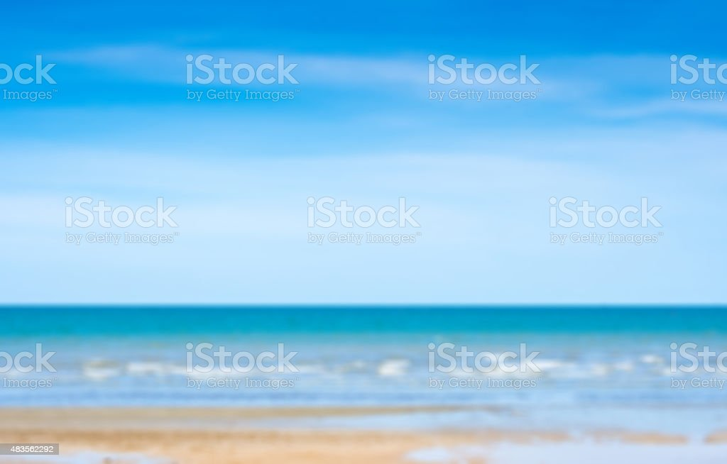 Blur blue sky and sea royalty-free stock photo