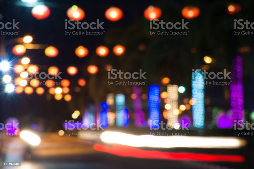 Blur bokeh abstract light background stock photo
