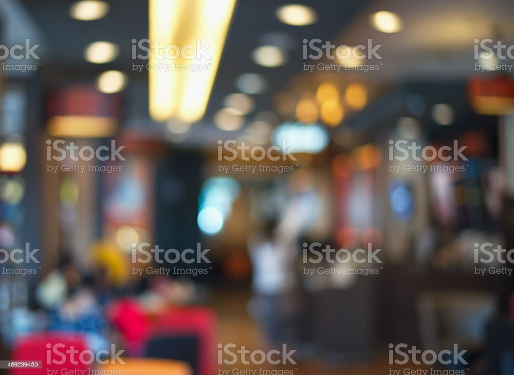 blur cafe or restaurant background stock photo