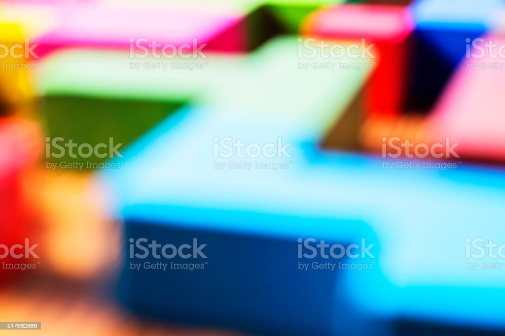 Blur color abstraction. Blurring background, geometric forms, stock photo