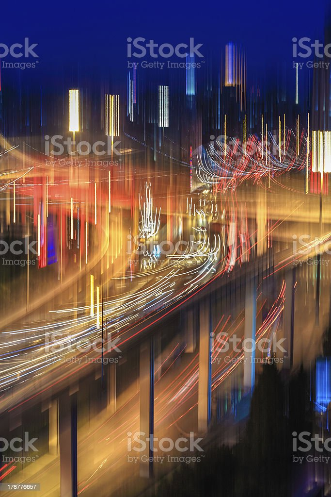 blur colors on the overpass royalty-free stock photo