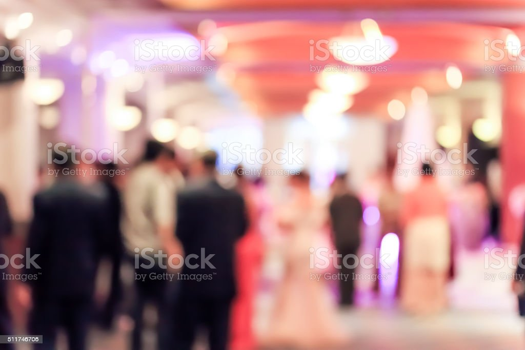 blur convention hall stock photo