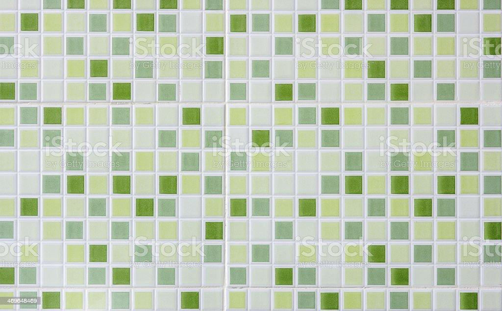Blur green ceramic mosaic background. royalty-free stock photo