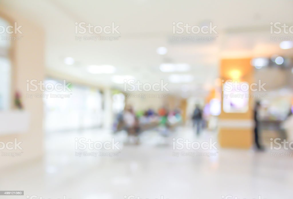 blur hospital stock photo