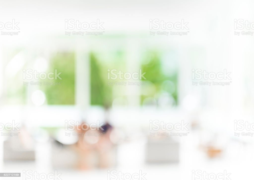 blur image of living room stock photo