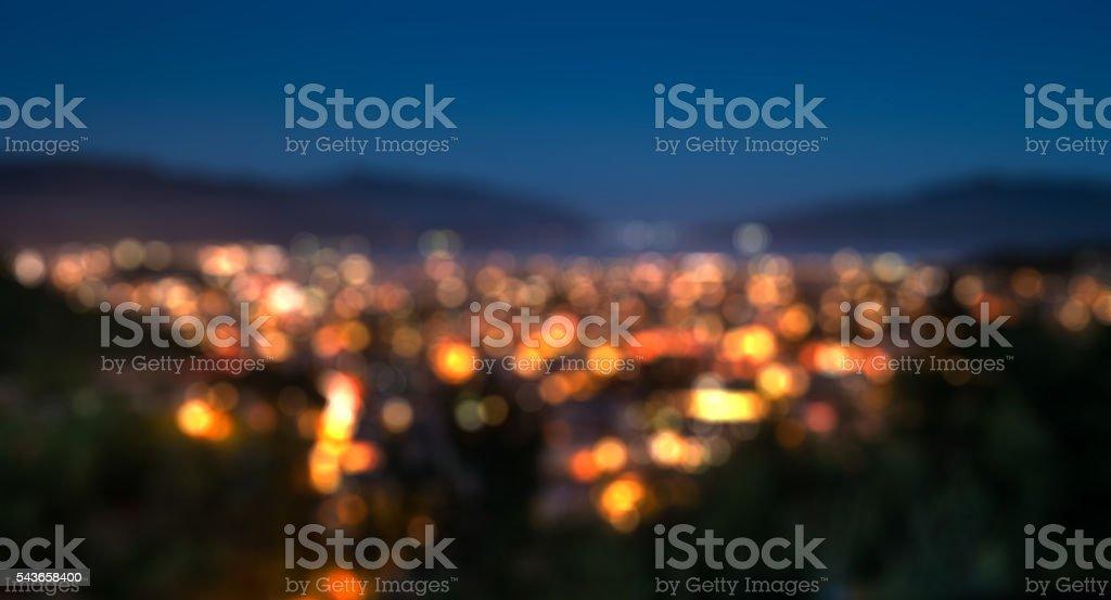 Blur image of Marmaris scenery stock photo