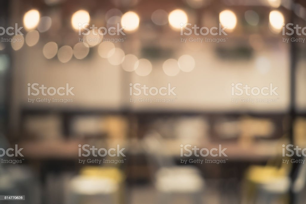 Blur light in the restaurant for background stock photo