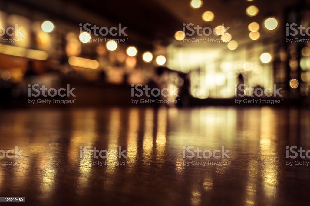 Blur or Defocus image of Coffee Shop stock photo