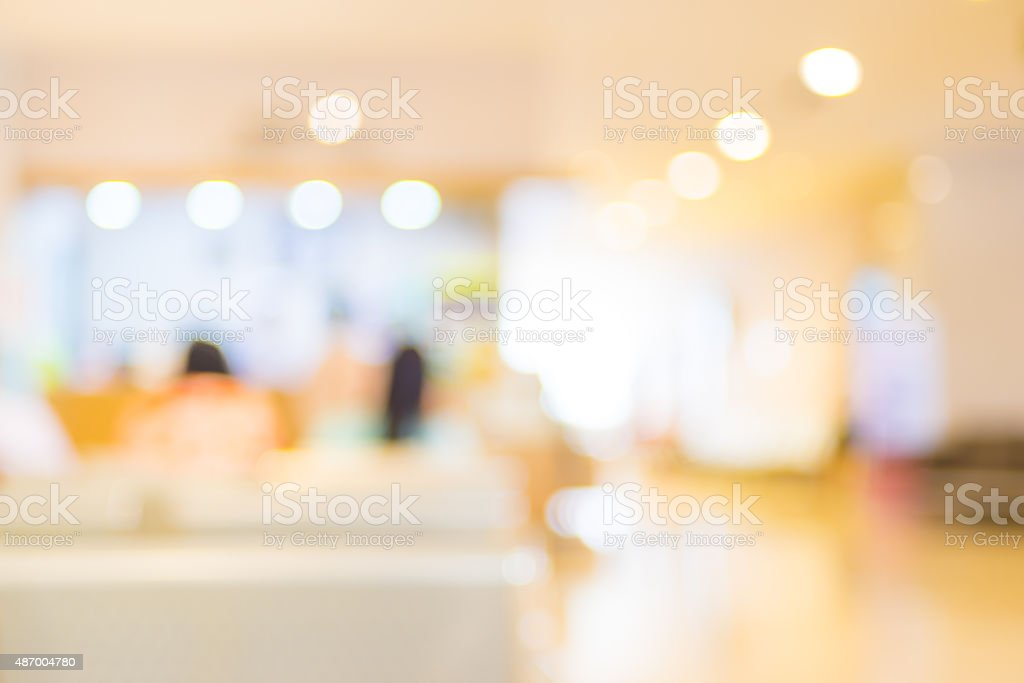 Blur patient waiting for see doctor at hospital,abstract backgro stock photo